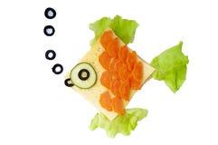Rybia kanapka dla dziecka zdjęcie royalty free