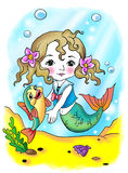 rybia mała syrenka Fotografia Royalty Free