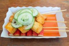 Rybia piłka i sztuczny kraba mięso Zdjęcia Royalty Free