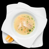 Rybia polewka gotująca w śródziemnomorskim stylu odizolowywającym Obrazy Stock