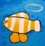 Rybia pomarańcze i biel Zdjęcie Royalty Free
