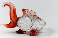 Rybia szklana rzeźba dla dekoraci zdjęcie royalty free
