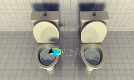 rybia toaleta ilustracji