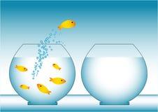 Rybia ucieczka ilustracji