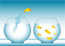 Rybia ucieczka royalty ilustracja
