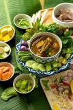 Rybich organów korzenna polewka z bambusowymi krótkopędami i warzywami Zdjęcia Stock