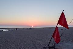 Rybie łodzie w Praia dÂ'Aguda plaży obraz stock