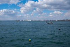 Rybie łodzie w Czarnym morzu Zdjęcia Stock