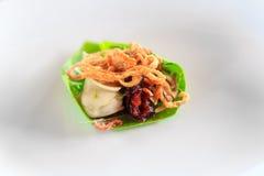 rybiego jedzenia pietruszki talerz piec morze Obrazy Stock