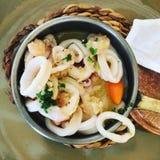 rybiego jedzenia pietruszki talerz piec morze Fotografia Stock