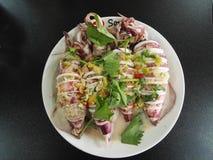 rybiego jedzenia pietruszki talerz piec morze Zdjęcie Royalty Free
