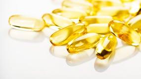 Rybiego oleju omega 3 gel kapsuły Obrazy Stock