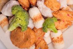Rybiej pasty mochi dla Japońskiego karmowego składnika wizerunku i tort Zdjęcie Stock