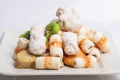 Rybiej pasty mochi dla Japońskiego karmowego składnika wizerunku i tort Fotografia Royalty Free