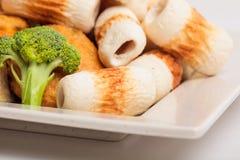 Rybiej pasty mochi dla Japońskiego karmowego składnika wizerunku i tort Zdjęcia Stock
