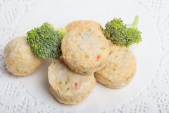 Rybiej pasty mochi dla Japońskiego karmowego składnika wizerunku i tort Obraz Stock