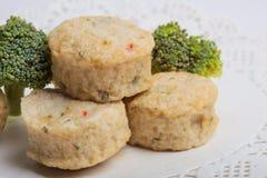 Rybiej pasty mochi dla Japońskiego karmowego składnika wizerunku i tort Fotografia Stock