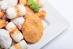 Rybiej pasty mochi dla Japońskiego karmowego składnika wizerunku i tort Obraz Royalty Free
