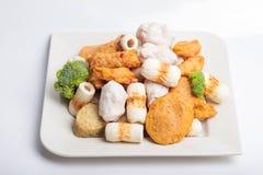 Rybiej pasty mochi dla Japońskiego karmowego składnika wizerunku i tort Obrazy Stock