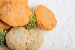 Rybiej pasty mochi dla Japońskiego karmowego składnika wizerunku i tort Obrazy Royalty Free