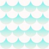 Rybiej skala japanase bezszwowy deseniowy wektor Obrazy Royalty Free
