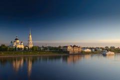 Rybinsk, krajobraz Zdjęcia Royalty Free
