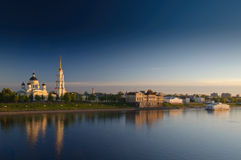 Rybinsk, Landschaft Lizenzfreie Stockfotos