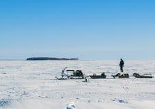 Rybinsk morze w Yaroslavl regionie Zdjęcie Stock