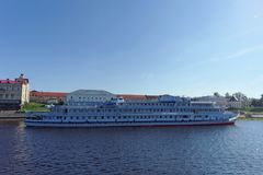 Rybinsk, Russia. - June 3.2016. Passenger ship Two Capitals is moored at the pier of the town of Rybinsk. Stock Photography