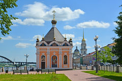 Rybinsk.  Sacred Nikolay Chudotvortsa's chapel Stock Images