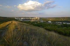 Rybnitsa-Stadt in Transnistrien, am linken Ufer des Dnister-Flusses Lizenzfreie Stockbilder