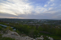 Rybnitsa-Stadt in Transnistrien, am linken Ufer des Dnister-Flusses Stockfotografie