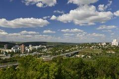 Rybnitsastad in Transnistria, op de linkeroever van de Rivier van Dniester Stock Afbeelding