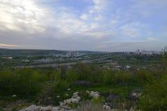Rybnitsastad in Transnistria, op de linkeroever van de Rivier van Dniester Stock Afbeeldingen