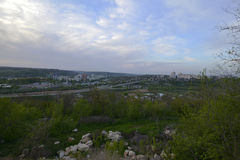 Rybnitsastad in Transnistria, op de linkeroever van de Rivier van Dniester Royalty-vrije Stock Afbeeldingen