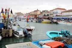 Rybołówstwo łodzie w Le Roi, Camargue, Francja Obrazy Stock