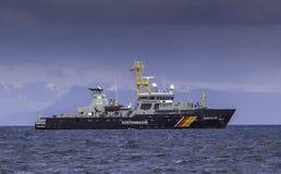 Rybołówstwo patrolu naczynie fotografia royalty free