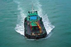 Rybołówstwo statek od wierzchołka obrazy stock