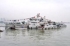 Rybołówstwo administraci statek Fotografia Royalty Free