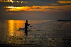 Rybołówstwo w ranku Fotografia Royalty Free