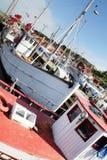 ryby łodzie marina Obraz Royalty Free
