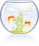 ryby akwarium złoto ilustracji