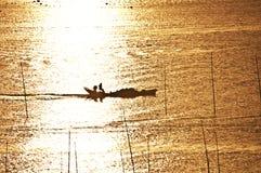 ryby dwie łodzie Zdjęcia Stock