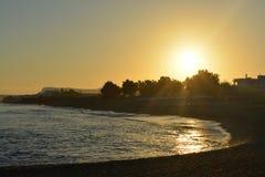 ryby morskie statki mewa niebo wznoszą się wschód słońca Obraz Stock