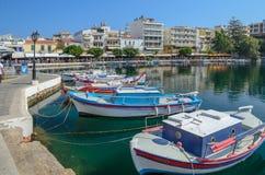 ryby łodzie po grecku Zdjęcie Stock