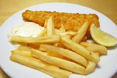 ryby z frytkami Zdjęcie Stock