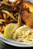 ryby z frytkami Zdjęcia Stock