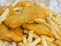 ryby z frytkami Obrazy Royalty Free
