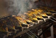 ryby z grilla Zdjęcia Royalty Free