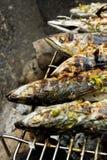 ryby z grilla na barbecue gorące Obraz Stock